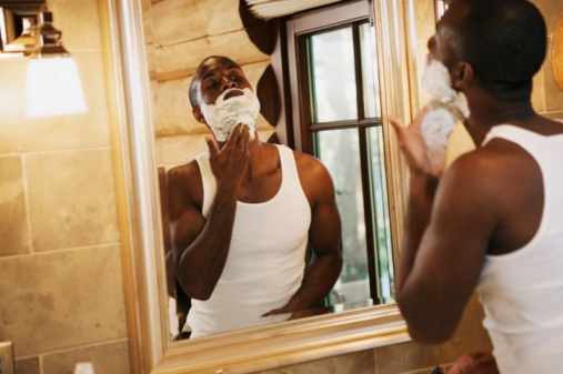 black-man-shaving