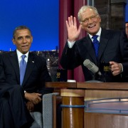 Obama on late-night TV (photos)